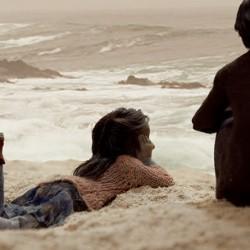 Abuelo y Esme en la playa