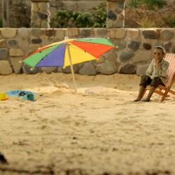 Abuelo en la playa